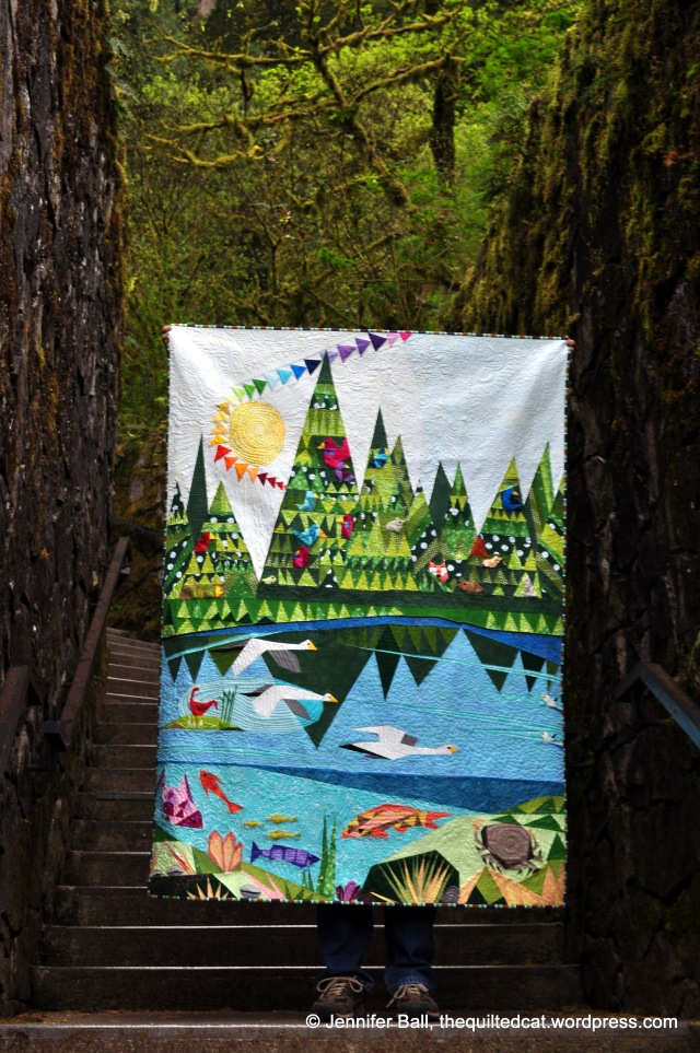 Forest Lake Art Quilt Completed!