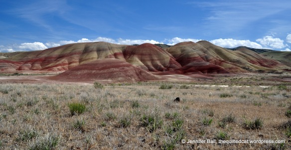 Painted Hills during mid-afternoon