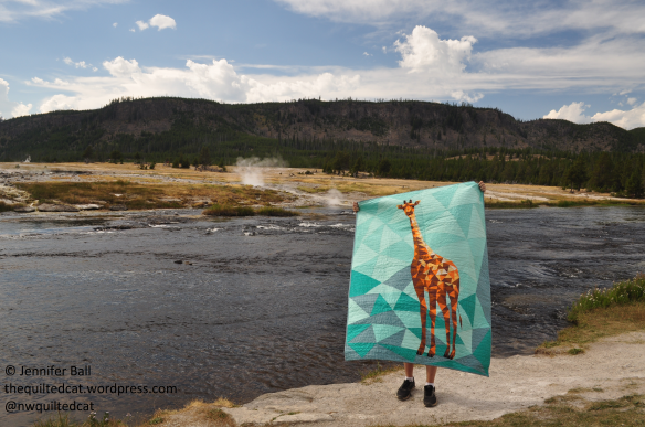 Giraffe at Biscuit Basin, Yellowstone NP