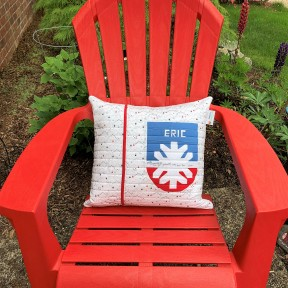 Ski Patrol pillow back