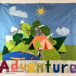 """Camping"" center block with ""Adventure"""