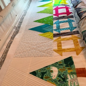 Quilting close-up